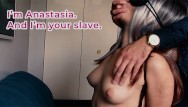 Blindfold blowjob amateur Russian slave anastasia: bondaged, blindfolded, and fucked hard