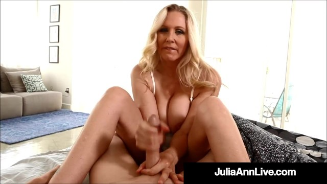 Busty Step-Mother Julia Ann Gives Step-Son A Worldclass Handjob!