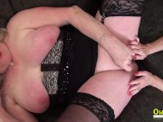 OldNannY Two mature Lesbians with Toys