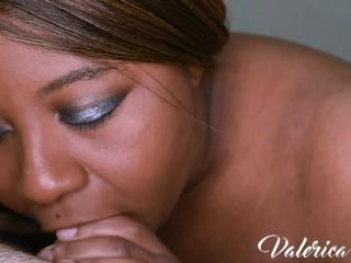 Busty Ebony Blows White Cock – Valerica Lore