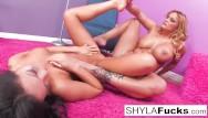 Shyla stylez lesbian shop Hot foot fetish with asa akira and shyla