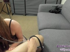 Blowjob Facial Collared & Leashed