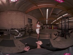 Vrbangers Molten Stunning Dark-hued September Reign Take A Giant Cock At The Gym Vr Porm