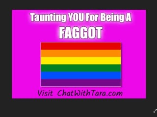 Taunting You For Being So GAY! Such a FAGGOT Humiliation Erotic Audio Tease