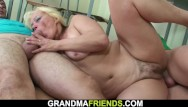 Old hairy granny and boy - Two boys screw old hairy granny sexy teacher on the floor