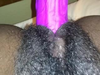 Pt2 Ebony Pov Dildo pounding my Khatt