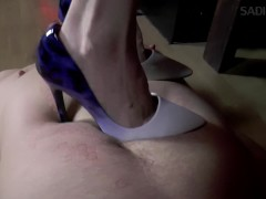 Miss Violet - Stomping In High High-heeled Slippers And Club - @piedini36violet36 - Sadika