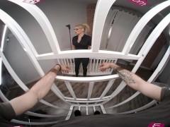 Vrbangers.com Sizzling Magnificent Platinum-blonde Spy Katy Jayne Sizzling Plow And Blow A Prisoner