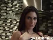 Cum Swallowing Fetish And CEI Femdom Porn