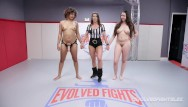 Girl fight stripper video Daisy ducati dominates curvy kyra rose in girl vs girl wrestling