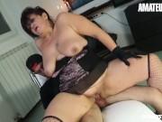 AmateurEuro - Rough SEX with Chubby Italian MILF