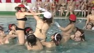 Nude japanese game Jav huge pool meet topless cavalry charge game with subtitles