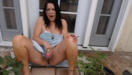 Mature black men fucking mature women Mom smokes and cums on black cock outside