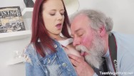 Sperm facial Old-n-young.com -tiffani love- old man shoots hottie in sperm