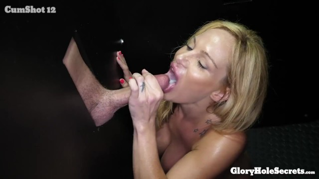 big tit blonde throating hot cum out of cocks