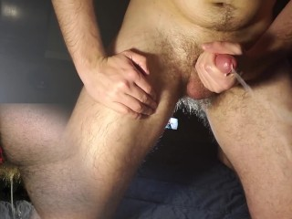 bent over leaking no hands, big finish with aneros prostate massager