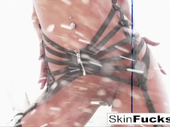 Skin's Incredible Double Penetration Fuck