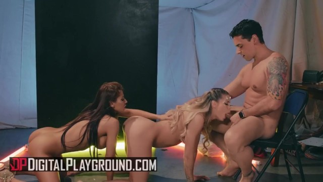 Digital playground - Sexy aliens Jessa Rhodes & Madison Ivy share cock