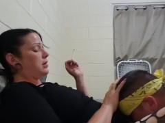 Goth Bi-atch Getting Her Fuckbox Eaten While Smoking