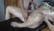 Fucking masturbate Oil massage hot masturbation on massage table fuck blowjob cumshot
