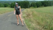 Unedit police strip search woman Young police woman punished a dirty driver
