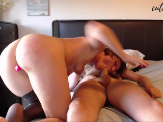Pussy Gets Used by Remote Toy, DeepThroat and Gets Sprayed With CUM