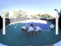 Naughty America Gals Have Fun With Tennis Instructor