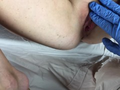 Powerful Bust And Blowage With Jism On Face/ Blue Gloves