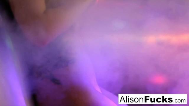 Big boobed disco ball babe Alison Tyler