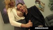 Hug tits suficating guys Big boobed milf julia ann hugs lucky dude milks his hard cock