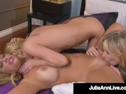 Hot Lesbian Lovers, Julia Ann, Cherie Deville & Aaliyah Love Tongue Fuck!