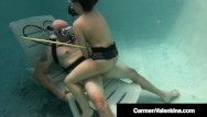 Scuba sex pool Hot scuba diving carmen valentina sucks fucks hard cock underwater