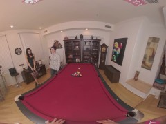 Vrbangers.com-sexy Latina Get Poked Rock Hard On The Pool Table Vr Porn
