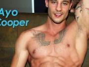 Flirt4Free - Ayo Cooper - Hottie w Extreme Monster Cock Jerks Off Big Load
