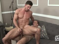 Sean Cody - two muscular hunks Frankie & Joey Bareback ass fuck