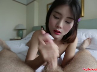 Helloladyboy Thai Ladyboy Pounded By Big Dick
