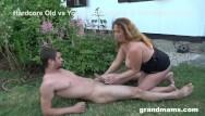 Granny loves huge cock Gorgeous granny loves sucking the gardener