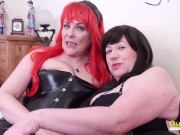 OldNannY Two Mature Lesbian Goes Wild