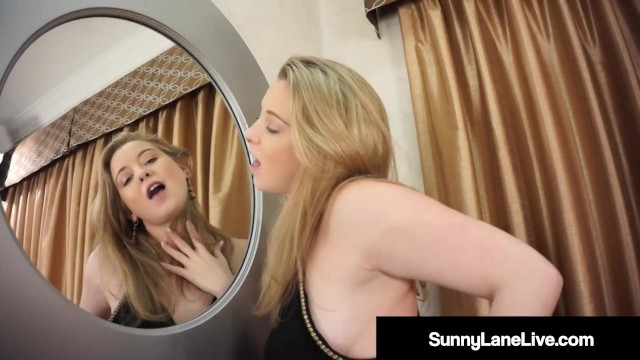 Hot Sunny Lane Sure Is A Stand Up Gal! Even When She s Masturbating!
