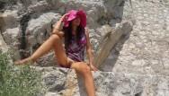 Asain teen panties - No panties in public on turistic trail