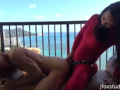 BTS Outtakes and Extra Footage from Hawaii - The making of a strapon porno