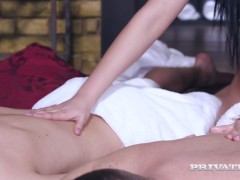 Private.com Introduces - Buxomy Honey Jolee Enjoy Plumbed & Dp'd By 2 Rigid Cocks!