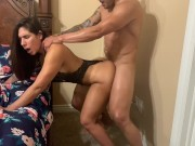 Big ass MILF asks for rough anal and then she makes him to slow down