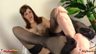 Redhead in stocking Redhead in stockings footjob and toes sucking