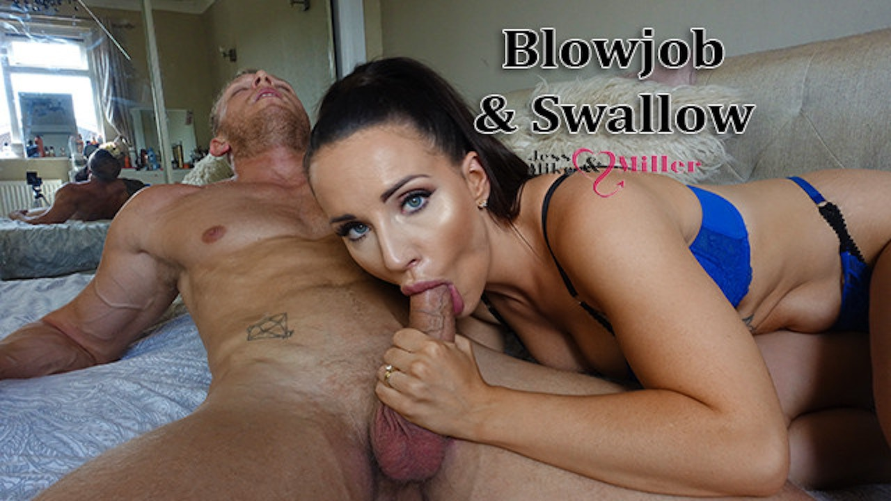 Ebony Sloppy Blowjob Cum Mouth