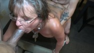 Tit split - Tattoo split roast 50y sexy milf cougar jules