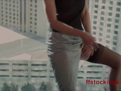 Ffstockings - Exhibitionist Julia At The Window