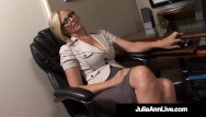 Woman sucking big cocks Busty working woman julia ann sucks her office mates hard horny cock