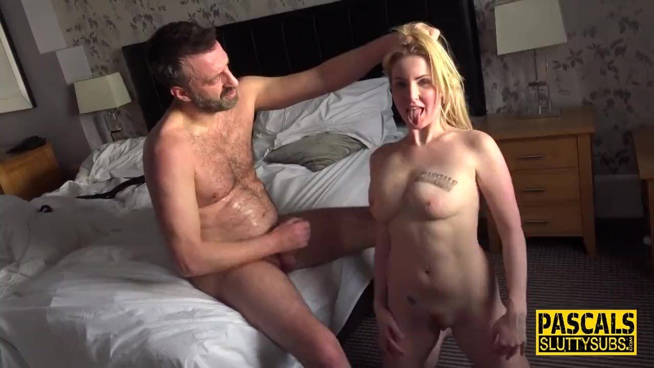 swalloed out fetish sub gets banged and jizzed