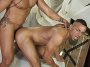 julian grey gives it hard to zario travezz bareback in the sands of time